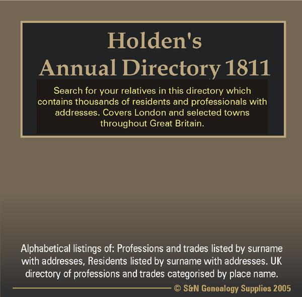 Holden's Annual Directory 1811