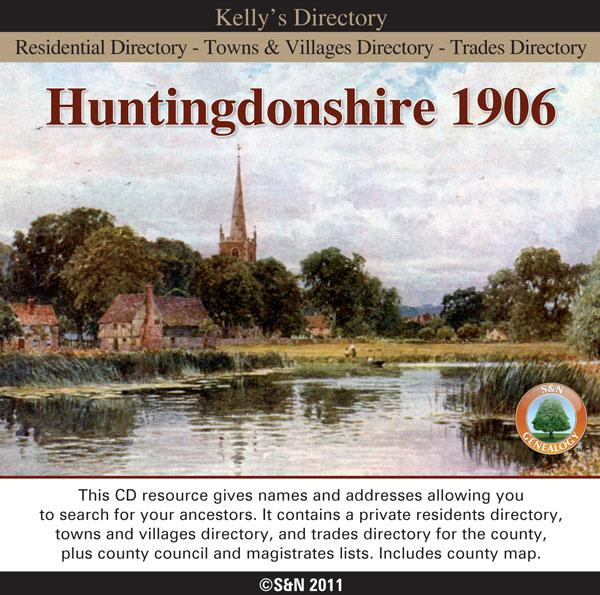 Huntingdonshire 1906 Kelly's Directory