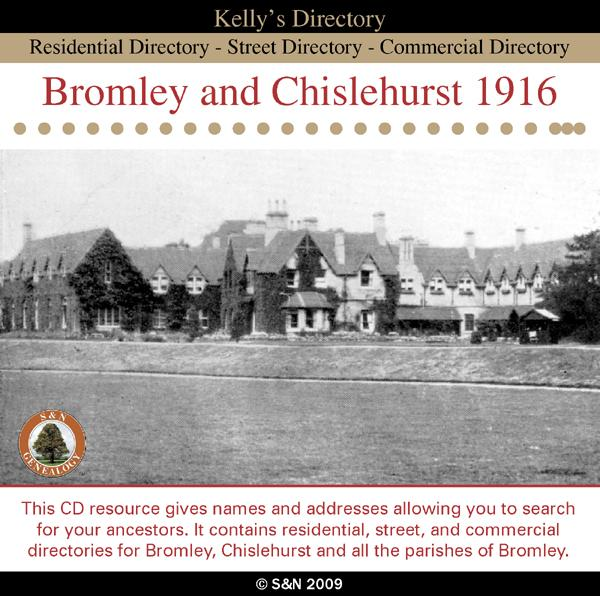 Kent, Bromley and Chislehurst 1916 Kelly's Directory