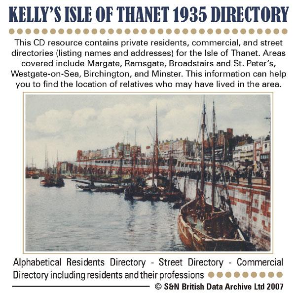 Kent, Isle of Thanet 1935 Kelly's Directory