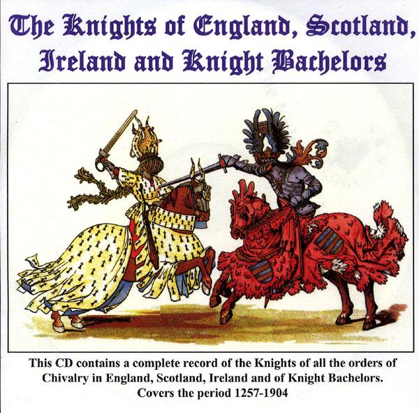 Knights of England 1284-1904