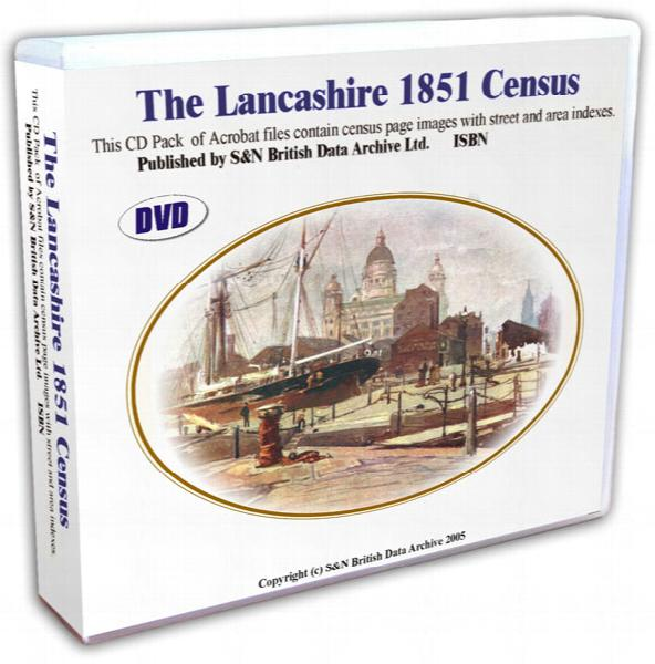 Lancashire 1851 Census DVD set