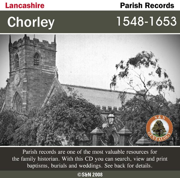Lancashire, Chorley Parish Records 1548-1653