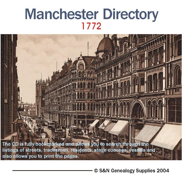 Lancashire - Manchester Directory - 1772