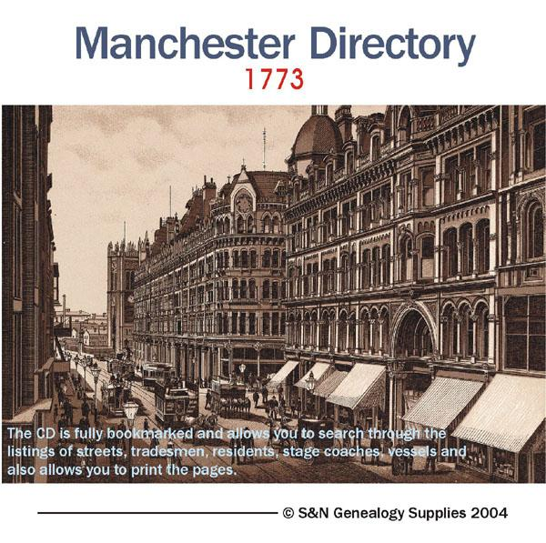Lancashire - Manchester Directory - 1773