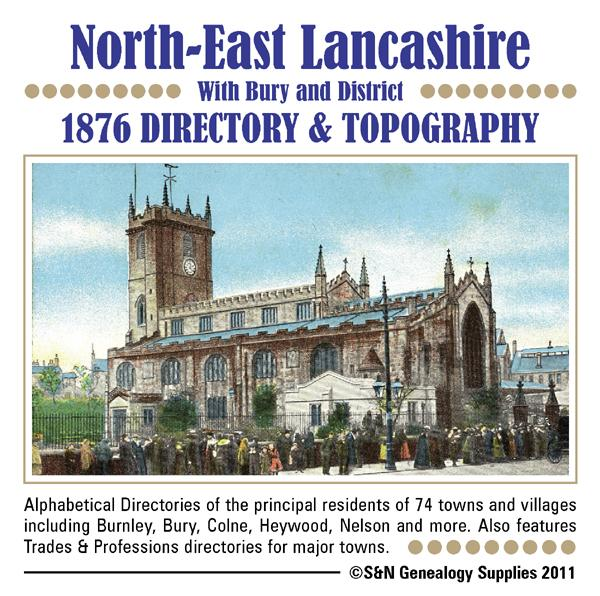 Lancashire (North East) with Bury and District Directory for 1876