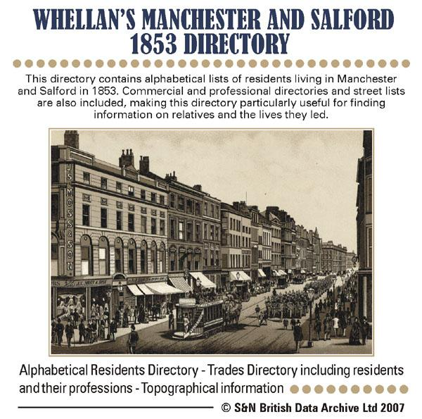 Lancashire, Whellan & Co's 1853 Directory of Manchester and Salford