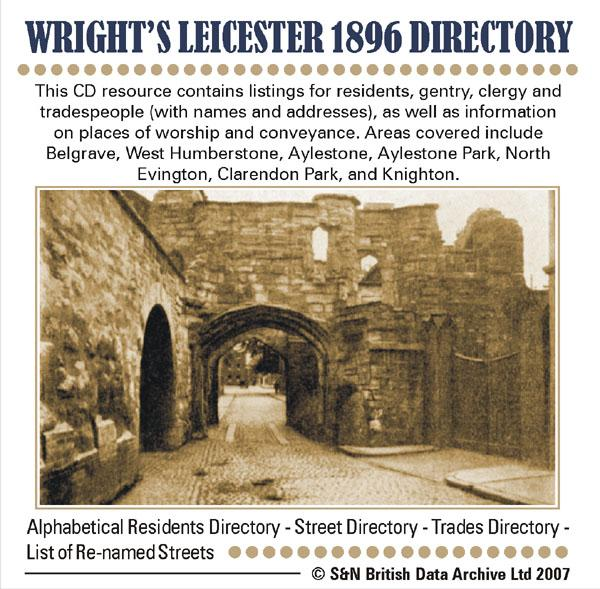 Leicestershire, Wright's Leicester 1896 Directory