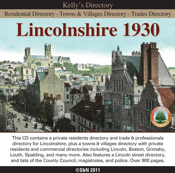 Lincolnshire Kelly's Directory 1930