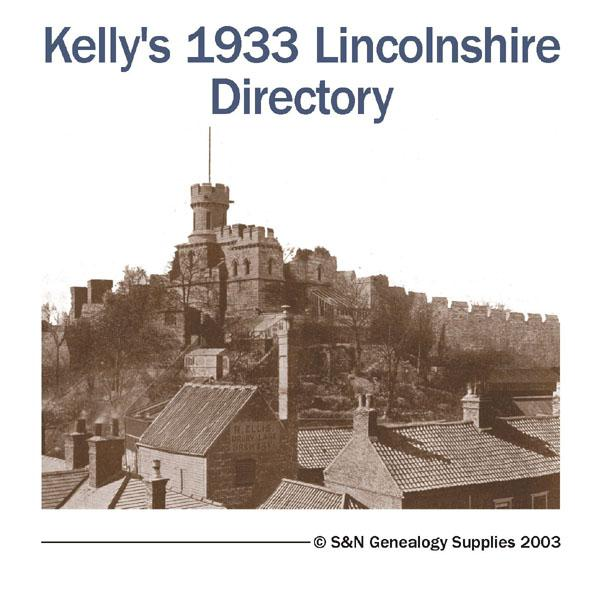 Lincolnshire Kelly's Directory 1933 (with coloured map)