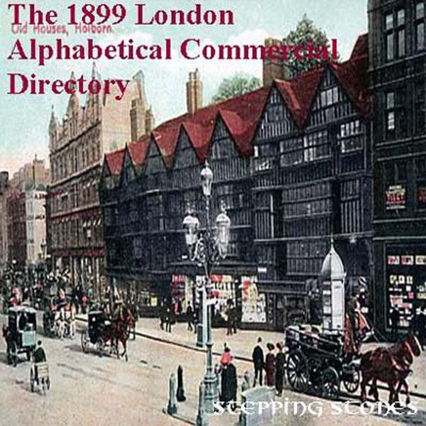 London 1899 Alpha Commercial Directory