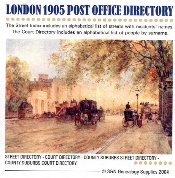 London 1905 - Kelly's Post Office Directory