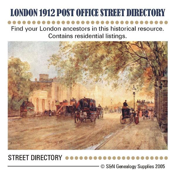 London 1912 - Post Office Street Directory