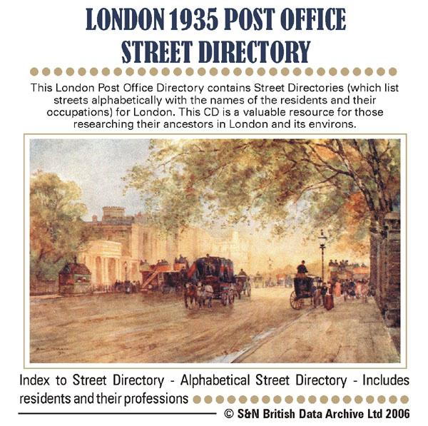London 1935 - Post Office Street Directory