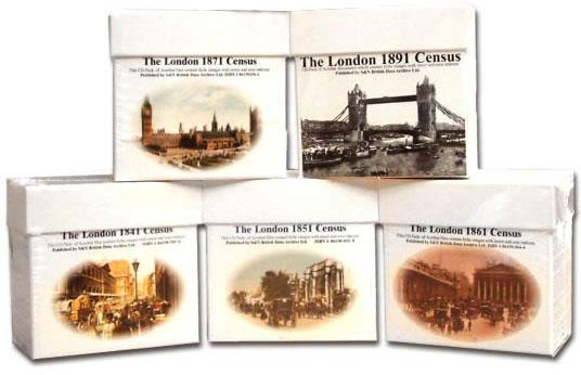 London Census Bundle - 1841, 1851, 1861, 1871 and 1891