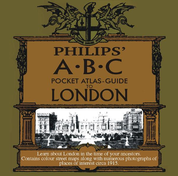 London, Philips' A.B.C. Pocket Atlas-Guide to London (c.1915)