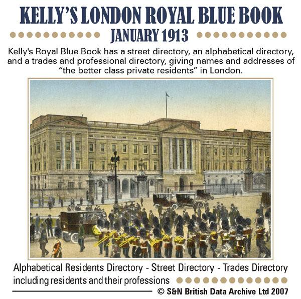 London, Royal Blue Book: Court Guide January 1913