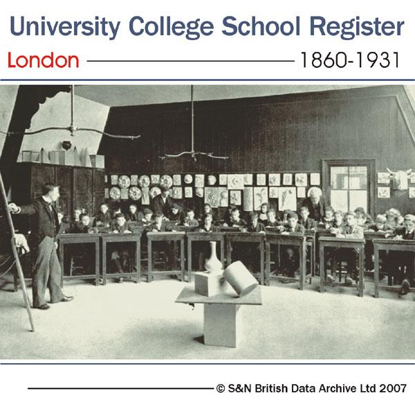London, University College School Register 1860-1931