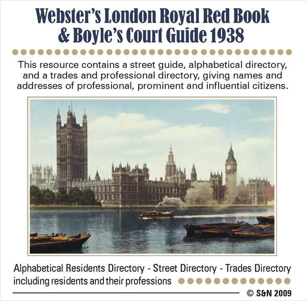 London, Webster's Royal Red Book 1938