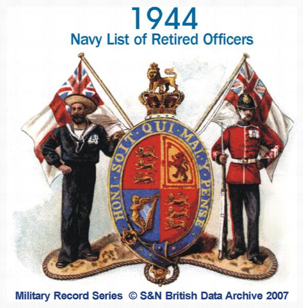 Navy List of Retired Officers 1944 - July