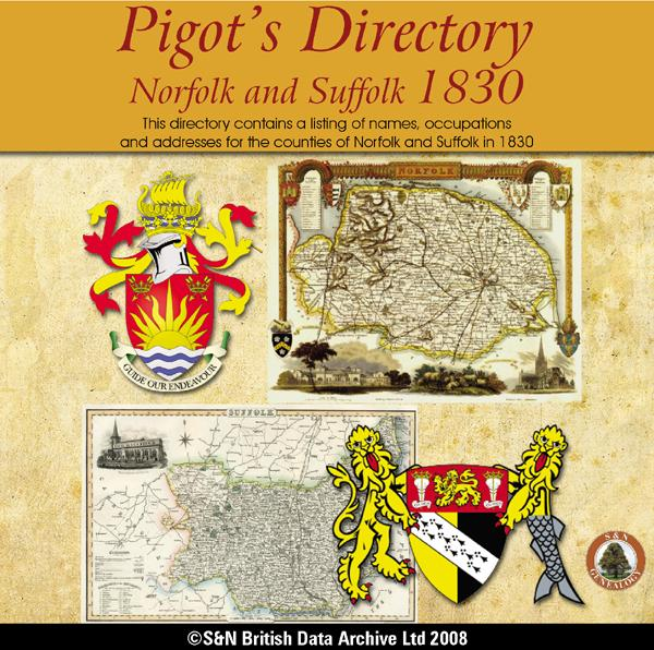 Norfolk and Suffolk Pigot's 1830 Directory