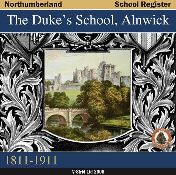 Northumberland, Alnwick, The Duke's School Registers 1811-1911