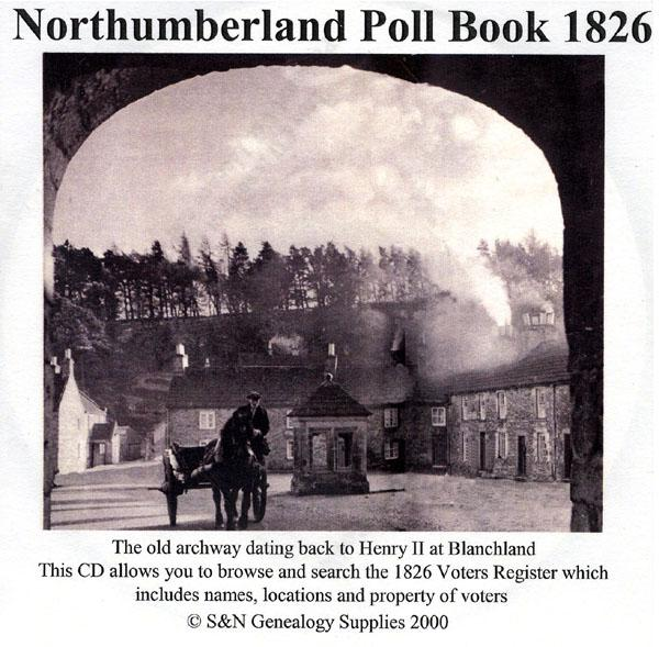 Northumberland Poll book of 1826