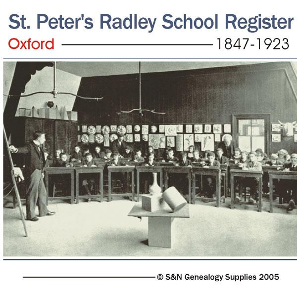 Oxford, St Peter's Radley College Register Oxford 1847-1923