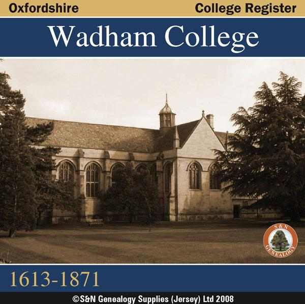 Oxfordshire, Wadham College Register 1613-1871