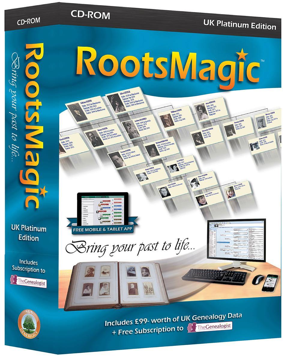 Buy RootsMagic UK Platinum Edition - new window