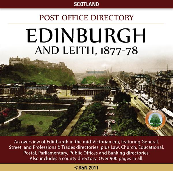 Scotland, Edinburgh and Leith Post Office Directory, 1877-78