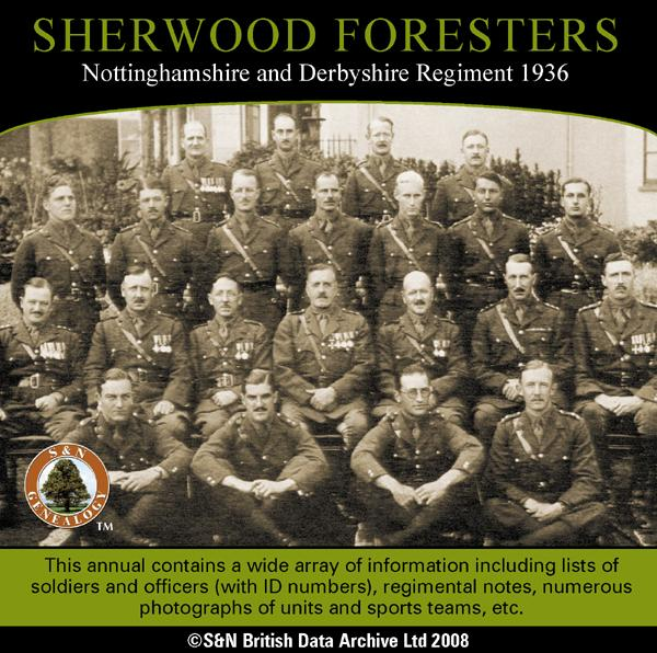 Sherwood Foresters, Nottinghamshire and Derbyshire Regiment 1936