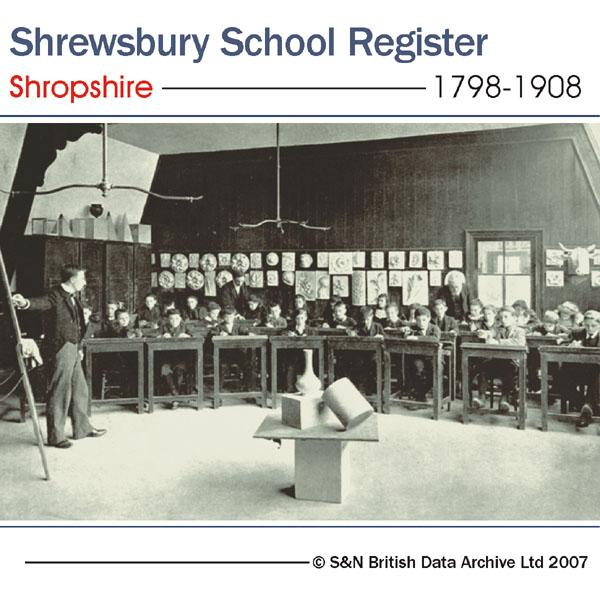 Shropshire, Shrewsbury School Register for 1798 to 1908