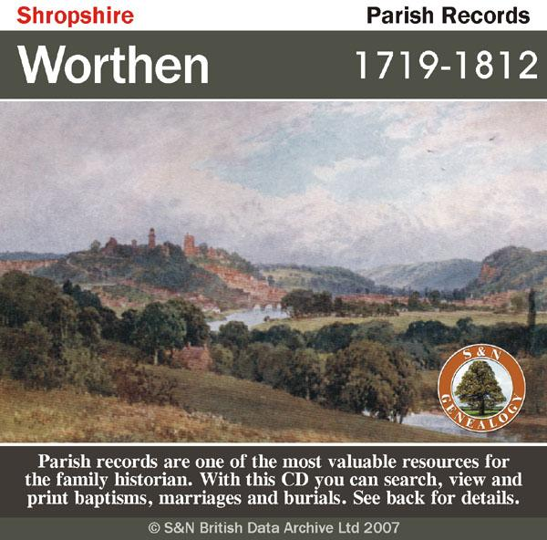 Shropshire, Worthen Parish Registers 1719-1812