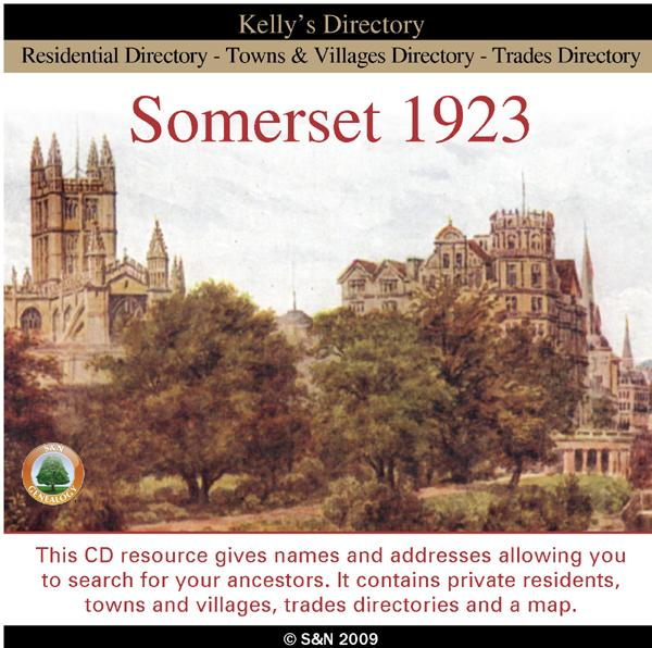 Somerset 1923 Kelly's Directory