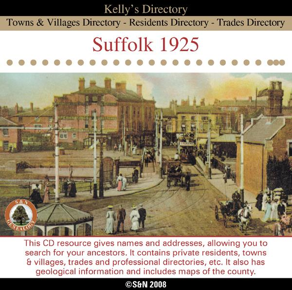 Suffolk 1925 Kelly's Directory