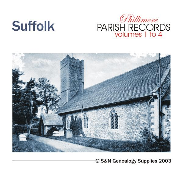Suffolk Phillimore Parish Records (Marriages) Volumes 01 to 04 on one CD