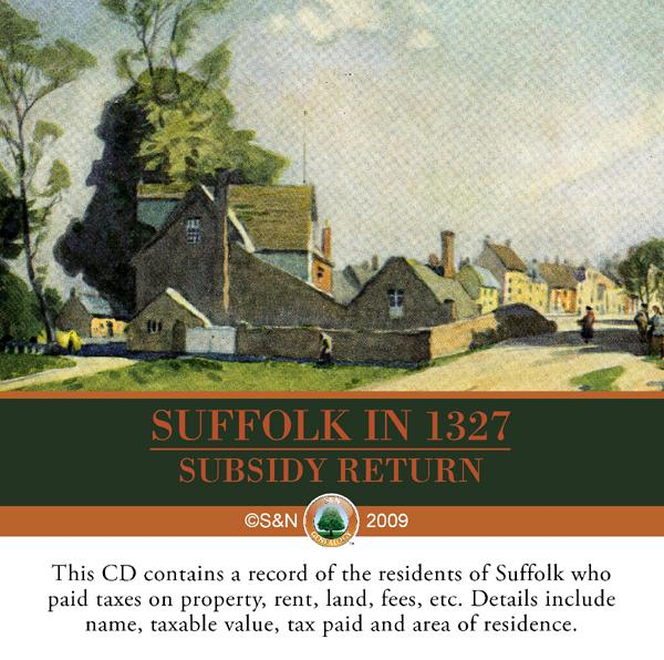 Suffolk in 1327 Subsidy Returns