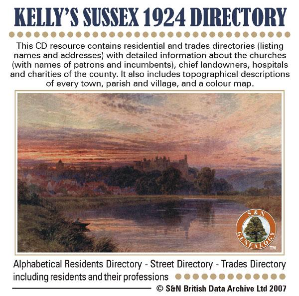 Sussex, Kelly's Sussex 1924 Directory