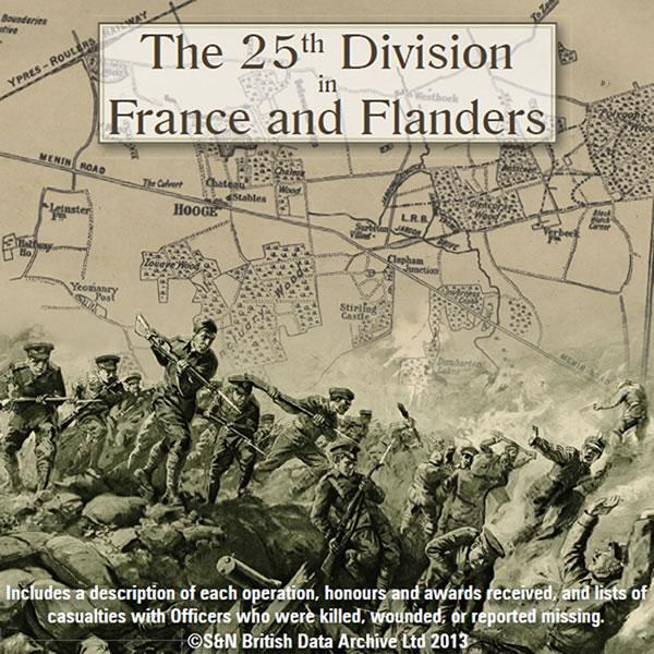 The 25th Division France & Flanders