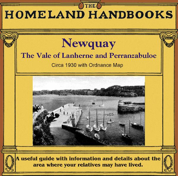 Cornwall, The Homeland Handbooks - Newquay , the Vale of Lanherne & Perranzabuloe circa 1930