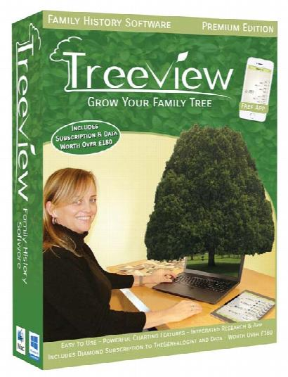 TreeView Premium Edition + Free Find Your Ancestors Book & Online Magazine worth over £30