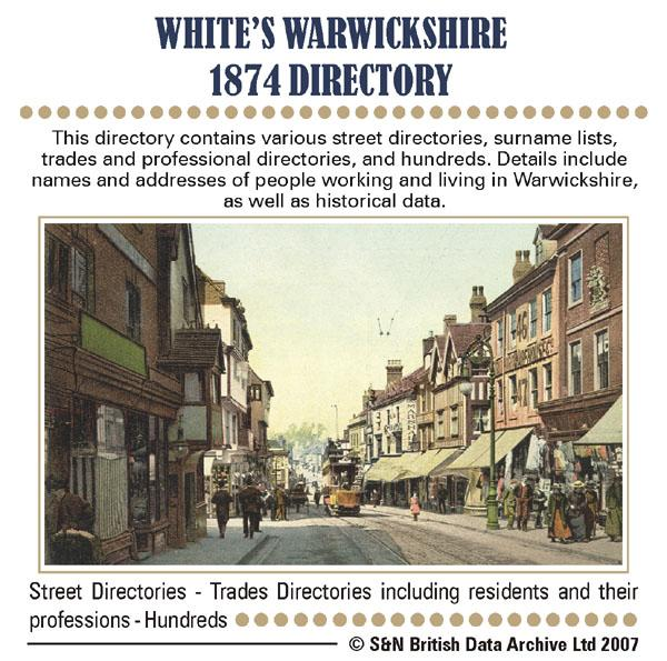 Warwickshire 1874 White & Co.'s Directory