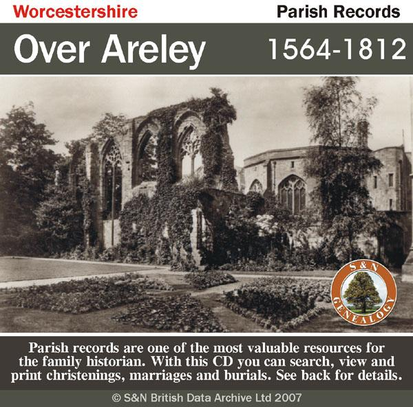 Worcestershire, Over Areley Parish Registers 1564-1812