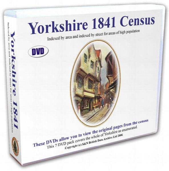 Yorkshire 1841 Census DVD set