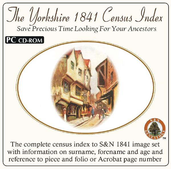 Yorkshire 1841 Census Name Index (on its own)