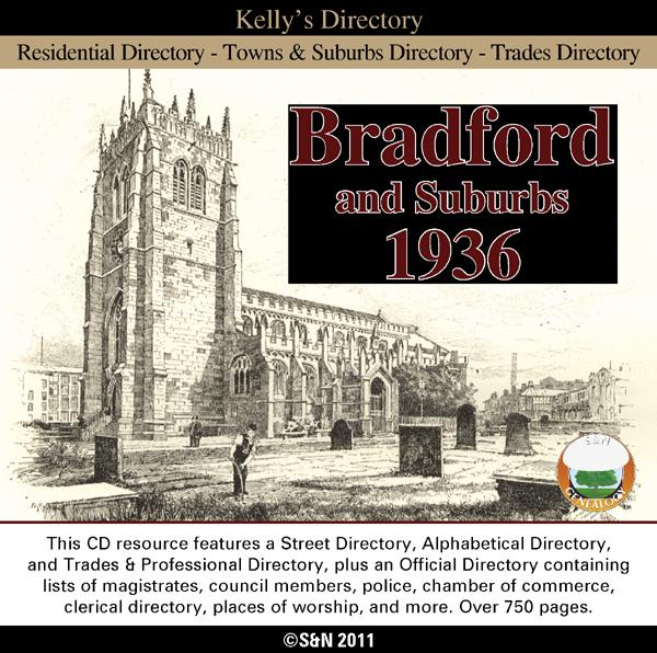 Yorkshire, Bradford and Suburbs 1936 Kelly's Directory