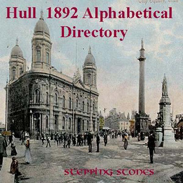 Yorkshire, Hull 1892 Alphabetical Directory