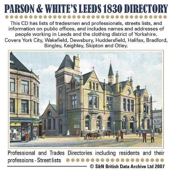 Yorkshire, Parson and White's Leeds Directory 1830
