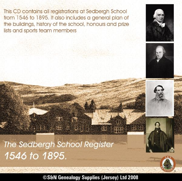 Yorkshire, The Sedbergh School Register 1546 to 1895